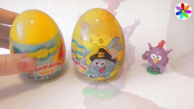 Смешарики яйца сюрпризы с наклейками и конфетами https://www.youtube.com/watch?v=ShjnuiMUXDw