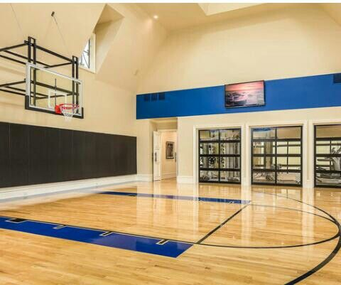 88 best images about luxury homes 39 special features on for Indoor basketball court design