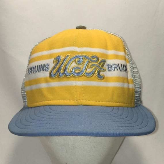 4de670e8ba9d4 Vintage UCLA Bruins Snapback Hat Blue Gold White Mesh Baseball Cap NCAA  College Hats For Men