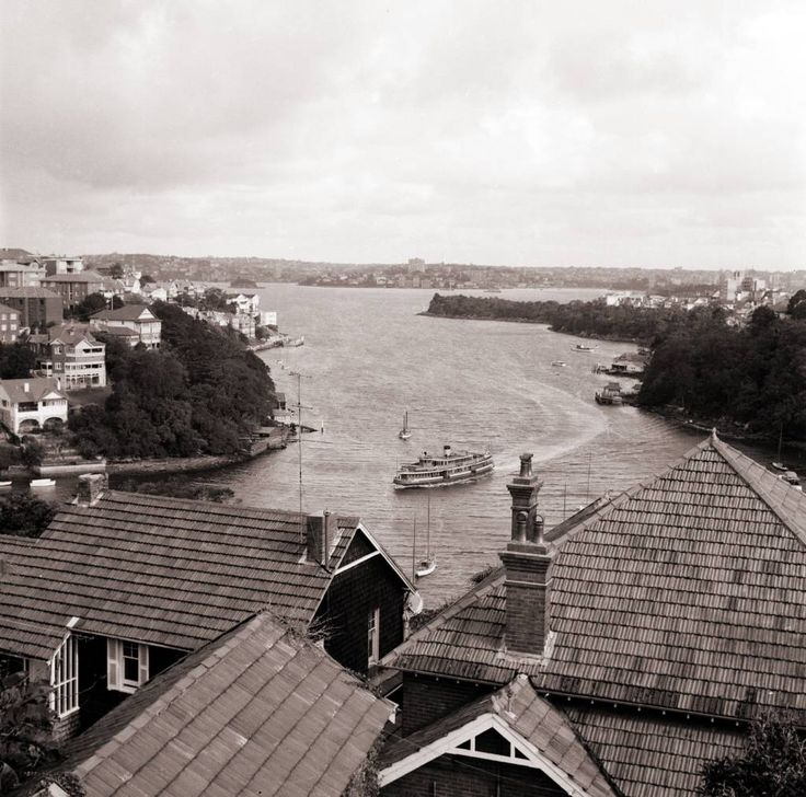 Mosman Bay and ferry 1950s.