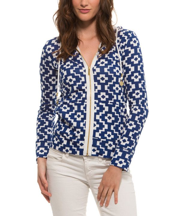 Look at this Kiki Beach Blue Zip-Up Hoodie on #zulily today!