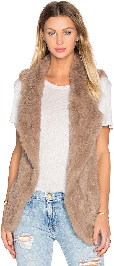 HEARTLOOM Michi Rabbit Fur Vest