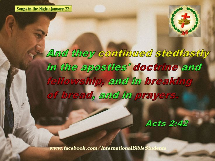Acts 2:42 doctrine, breaking of bread, prayers