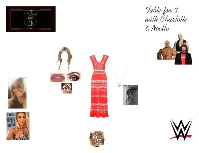 """""""Table for 3"""" by caramara3 ❤ liked on Polyvore featuring WWE, TNA, CENA, Smashbox, Estella Bartlett, self-portrait and Dolce Vita"""