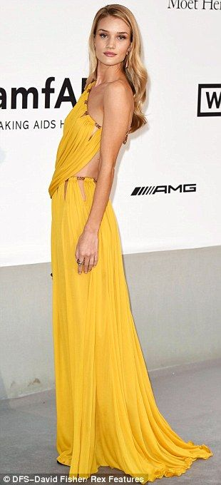 Cannes 2014.  Model mayhem: Rosie Huntington-Whiteley stole the show at the amfAR Cinema Against AIDS gala held at the famous Hotel du Cap-Eden-Roc on Thursday evening