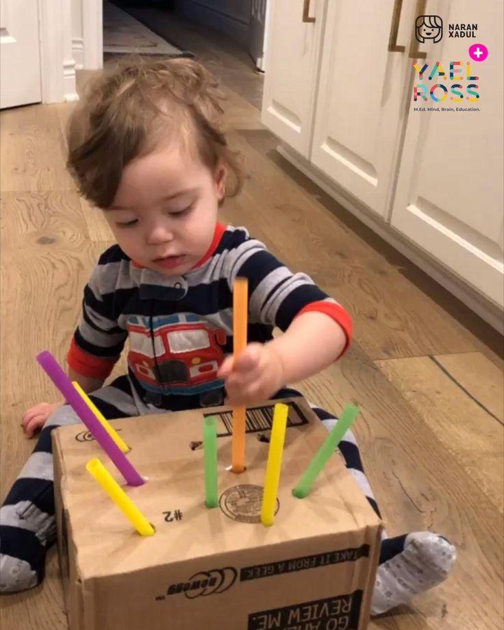 Estimulación de bebes juegos sensoriales Baby Learning Activities, Toddler Fine Motor Activities, Activities For One Year Olds, Indoor Activities For Kids, Montessori Activities, Infant Activities, Baby Sensory Play, Baby Play, Diy Pour Enfants