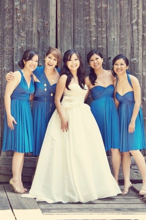 Buy bridesmaid dresses same color different style bridesmaids