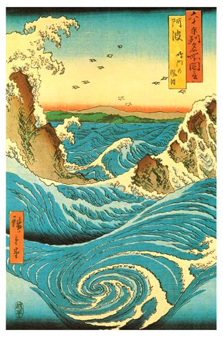 Navaro Rapids - by Ando Hiroshige - c.1855 http://www.voteupimages.com/?p=321