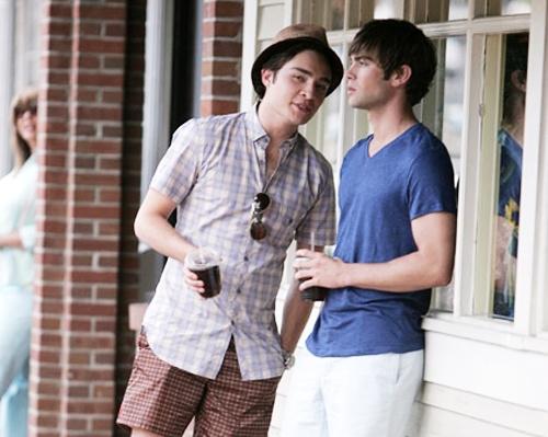 Chuck Bass and Nate Archibald | The Gentleman | Pinterest ...