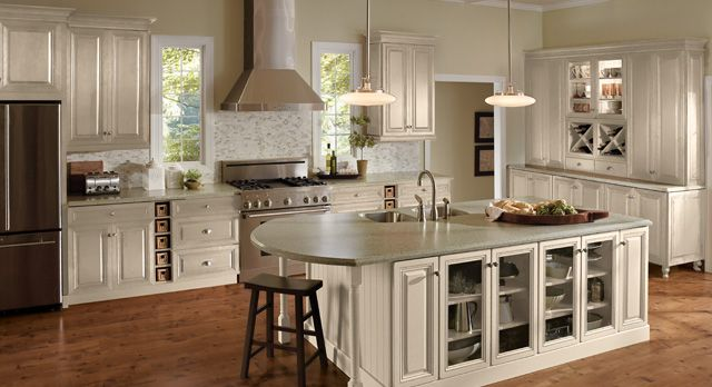 Merillat masterpiece alina vintage biscotti household for Merillat white kitchen cabinets