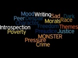 Here is the link to the wordle we created when we dicussed theme and mood within Monster.  http://www.wordle.net/show/wrdl/5941130/MONSTER