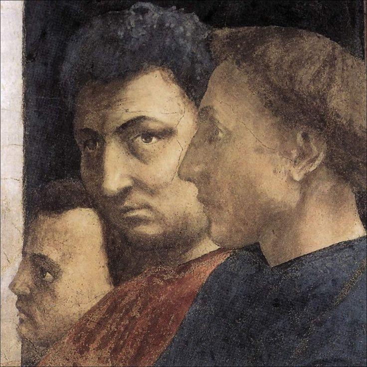 Masaccio · Autoritratto | Da San Pietro in cattedra · 1423-27 · Cappella Brancacci · Firenze