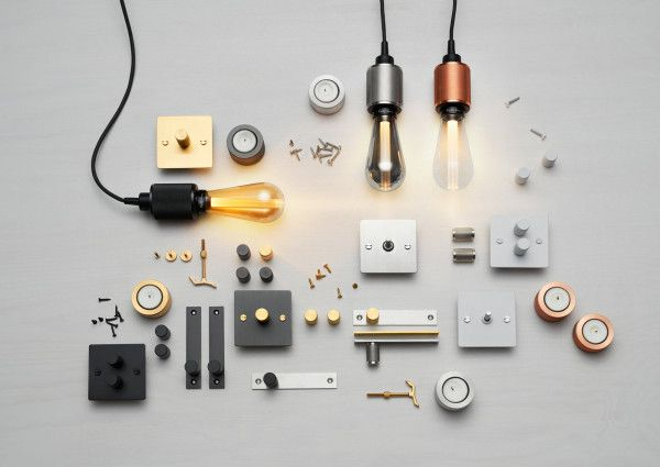 LED Buster Bulbs, HARDWARE funriture handles & knobs, ELECTRICITY dimmers & switches and HEAVY METAL candle holders from Buster + Punch