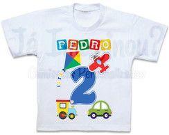Camiseta Tema Brinquedos
