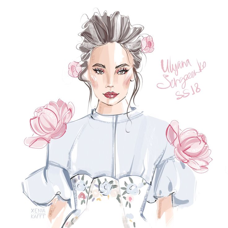 Sergeenko ss18  Fashion illustration