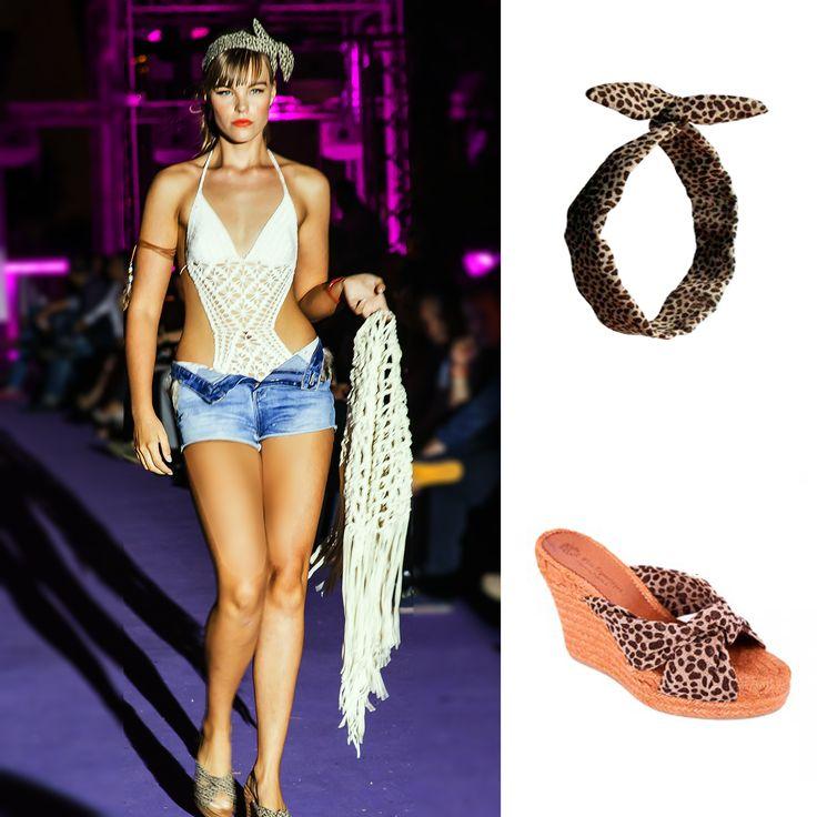 I Valencia Fashion Night. Desfile Miss Espartinas SS-2015. #espadrilles #alpargatas #missespartinas #miss #espartinas #cuñas #wedges #handmade #hechoamano #madeinspain #hechoenespaña #presentacion #desfile #catwalk #ss2015 #lumbracle #valecia #headband #lazo #pinup #boho #bohochic  #ibiza #safari #linen #lino #leopard #leopardo #marron #brown #crochet