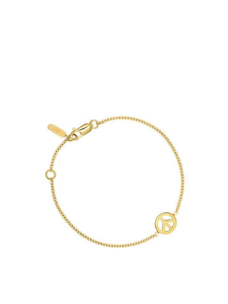Peace Bracelet - Sophie By Sophie - Gold www.stockholmmarket.com