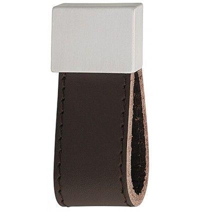 Greb, hængende strop, mørkebrun læder