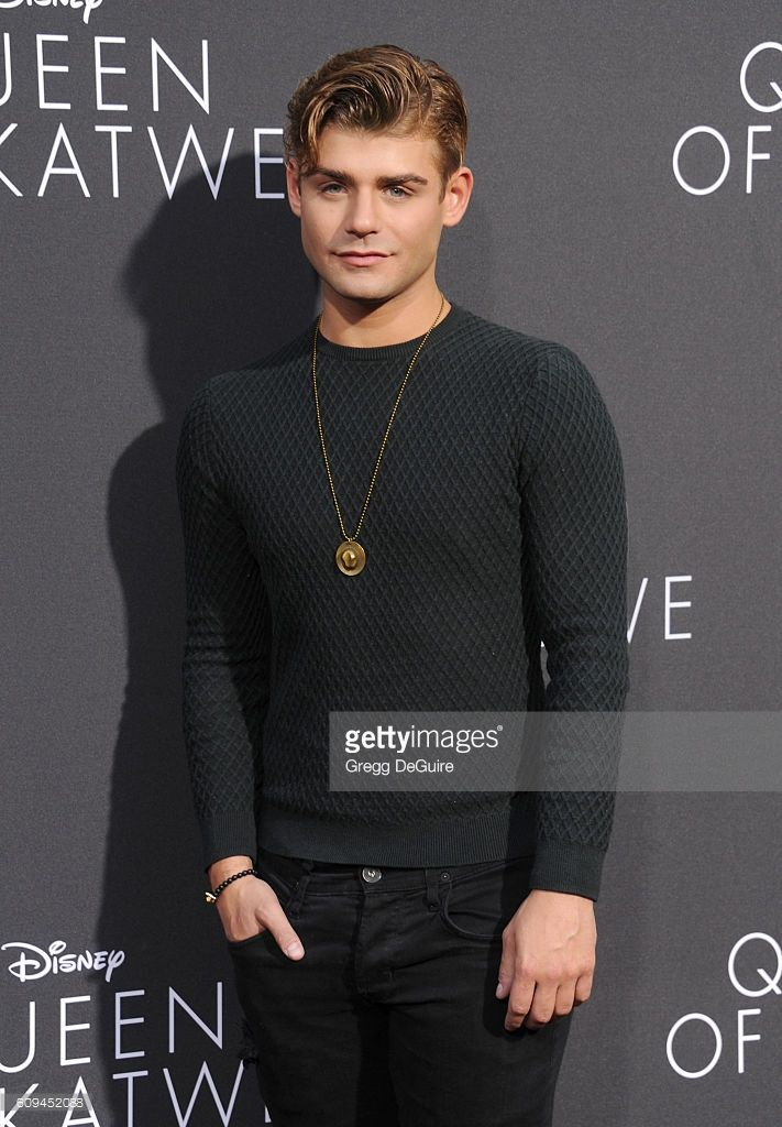 Actor Garrett Clayton arrives at the premiere of Disney's 'Queen Of Katwe' at…
