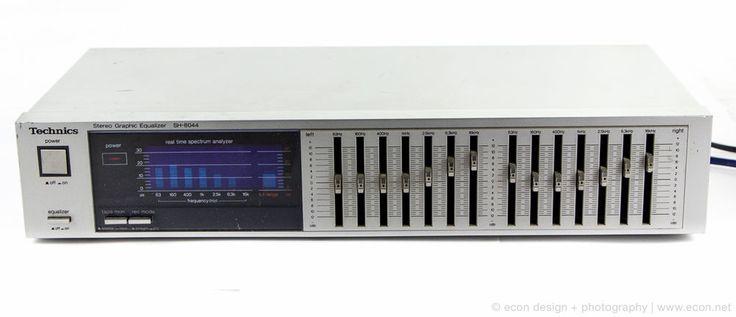 TECHNICS SH-8044 7-BAND STEREO GRAPHIC EQUALIZER EQ SPECTRUM ANALYZER JAPAN VGC #TECHNICS