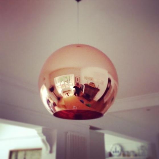Tom Dixon copper lamp