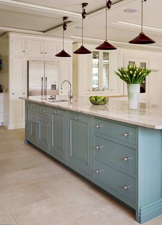 The English Classic by Mark Wilkinson Furniture - I like the cabinet color and the countertop