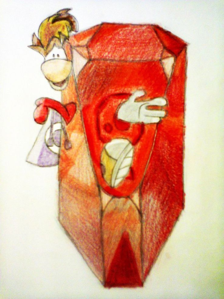 The Gem of my Life; Size: B5; Technic: colour pencil; Game: Rayman Origins (Ubisoft, 2011)