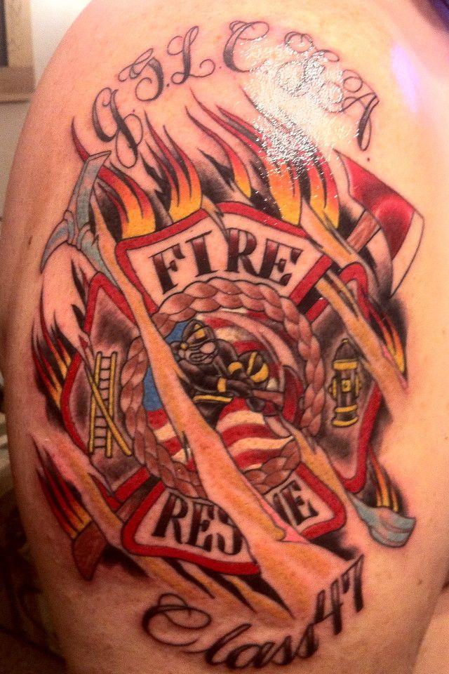 fireman tattoos   Fractured Maltese Cross - Strike the Box - Firefighter Tattoos