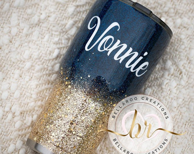 Blue and Gold Tumbler