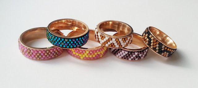 Schematy do pierścionków Nunn w kolorze różowego złota