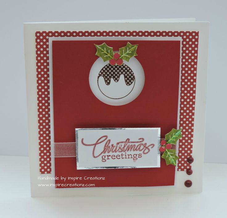 a quick and easy christmas card for you today loving the christmas puddings