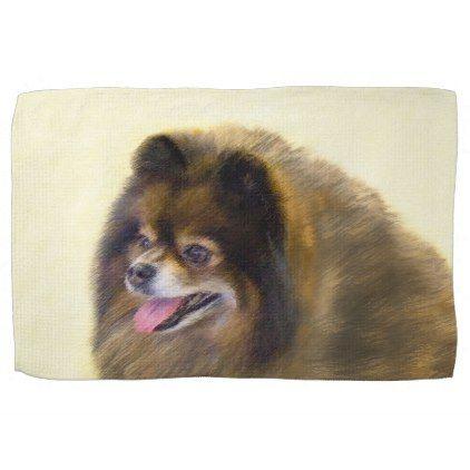 Pomeranian (Black and Tan) Towel - decor gifts diy home & living cyo giftidea