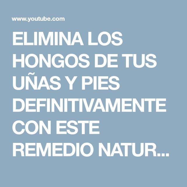 ELIMINA LOS HONGOS DE TUS UÑAS Y PIES DEFINITIVAMENTE CON ESTE REMEDIO NATURAL