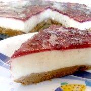 Tarta de queso frio, sin horno, rápida y fácil. #tarta #queso #fria