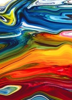 Beach House, Multi Colors, Rainbows Colors, Colors Art, De Souza, Brian De, Art Room, Meditation Room, Art Abstract