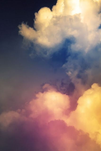 Rainbow Above Clouds Wallpaper For iPhone 4S and iPhone 4 Free