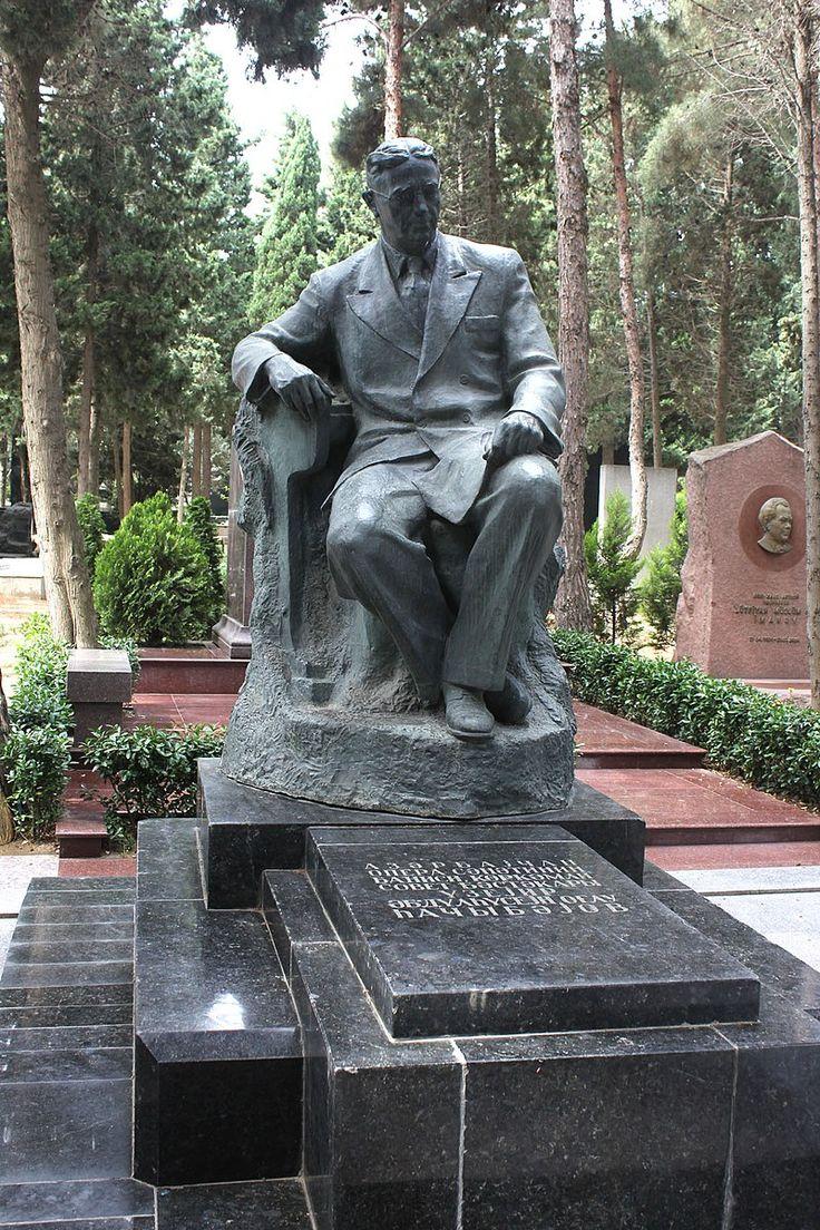 Grave Of Uzeyir Hajibeyov Buddha Statue Statue Buddha