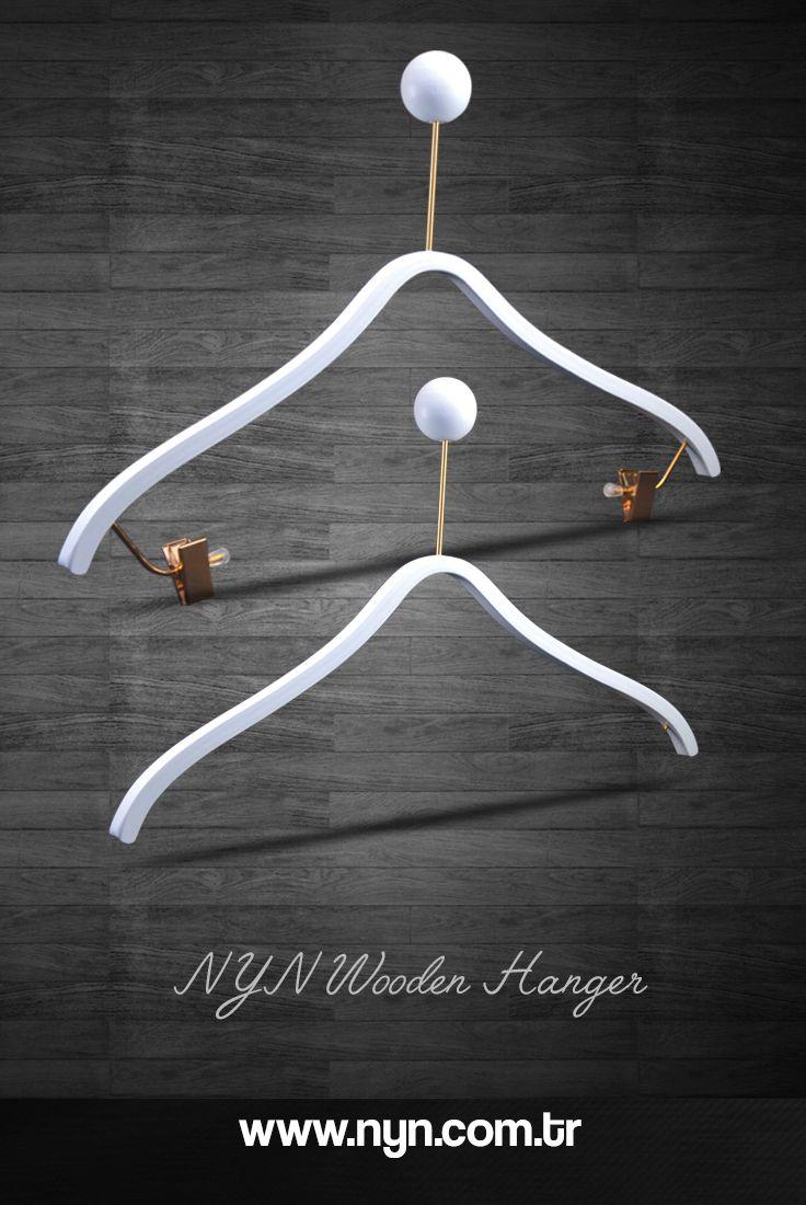 Wooden luxury blouse hanger