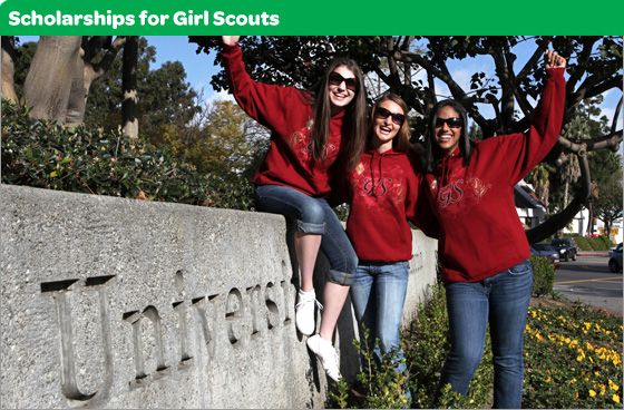 Many scholarships are available to Girl Scouts and Gold Award recipients. Search here by scholarship type or state that your prospective college is in.