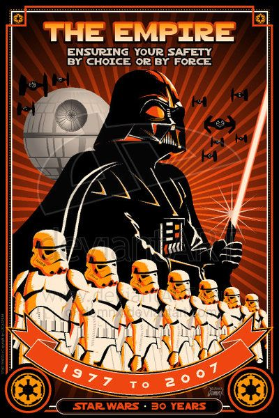 Star Wars Propaganda Poster For the Imperial Forces
