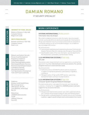 91 best Resume Ideas images on Pinterest Resume ideas, Resume - clean resume design