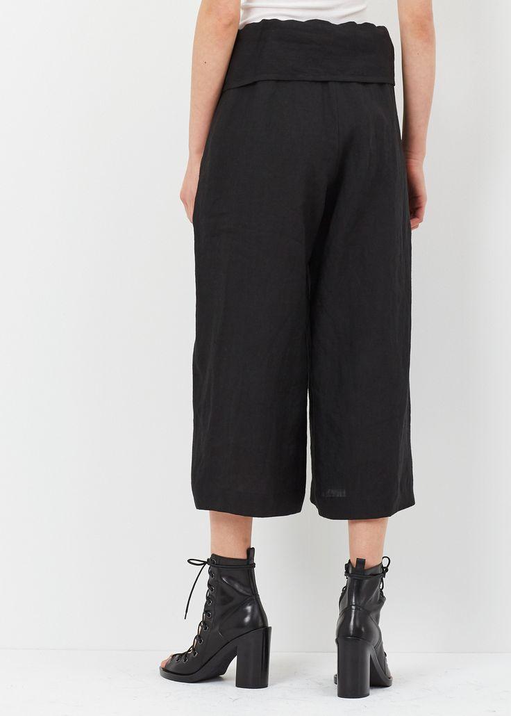 Y's by Yohji Yamamoto Waist Fold Pant (Black)