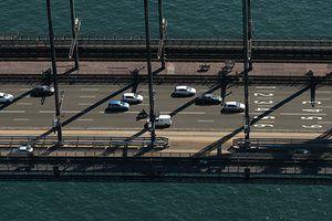 Traffic crossing the Sydney Harbour Bridge