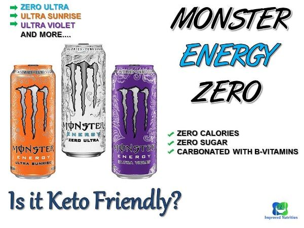 Monster Energy Zero Ultra Review Is It Keto Friendly Improved Nutrition Energy Keto Energy Drink Keto