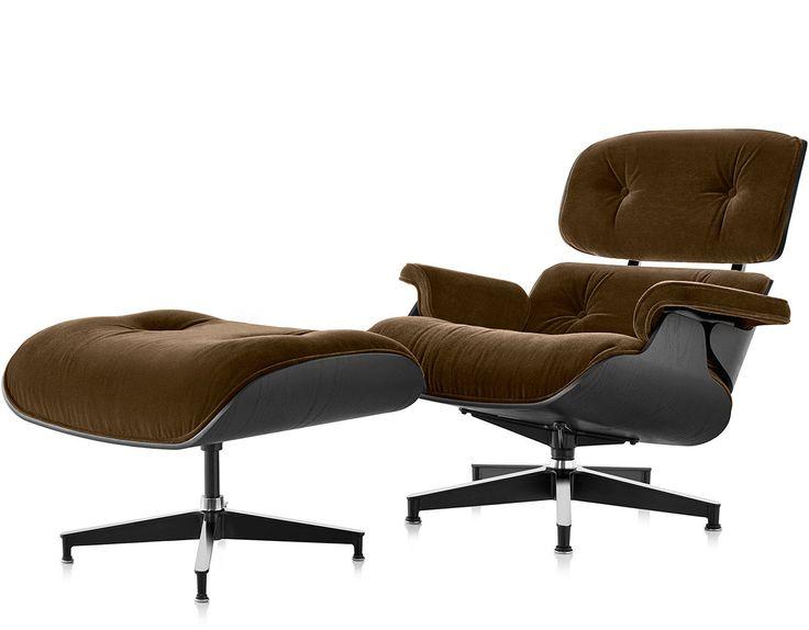 Eames® lounge chair & ottoman in mohair supreme Chair