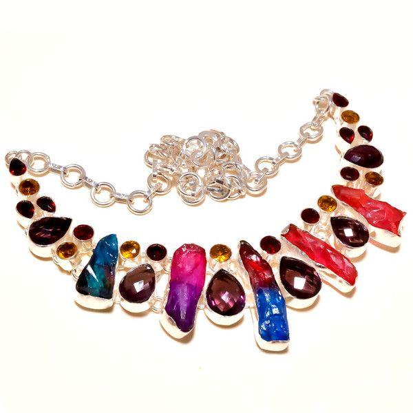 Chokers – Raw Tourmaline Necklace ,Choker,Bib,Charm,Statemen – a unique product by IndianCraftPalace on DaWanda