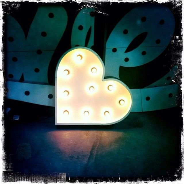 Giant marquee love heart for hire in Sydney or Byron Bay from Fromage la Rue. Letters lights, wedding lights, initial lights, marquee lights, any type of light! X