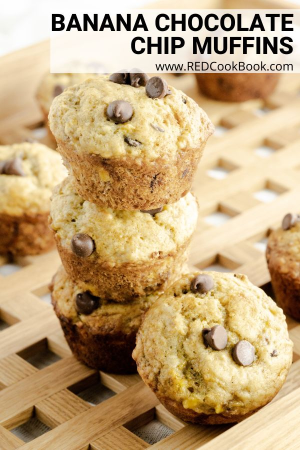 Jul 8, 2020 – Moist, fluffy, and delicious banana chocolate chip muffins. These muffins make a great breakfast muffin or…