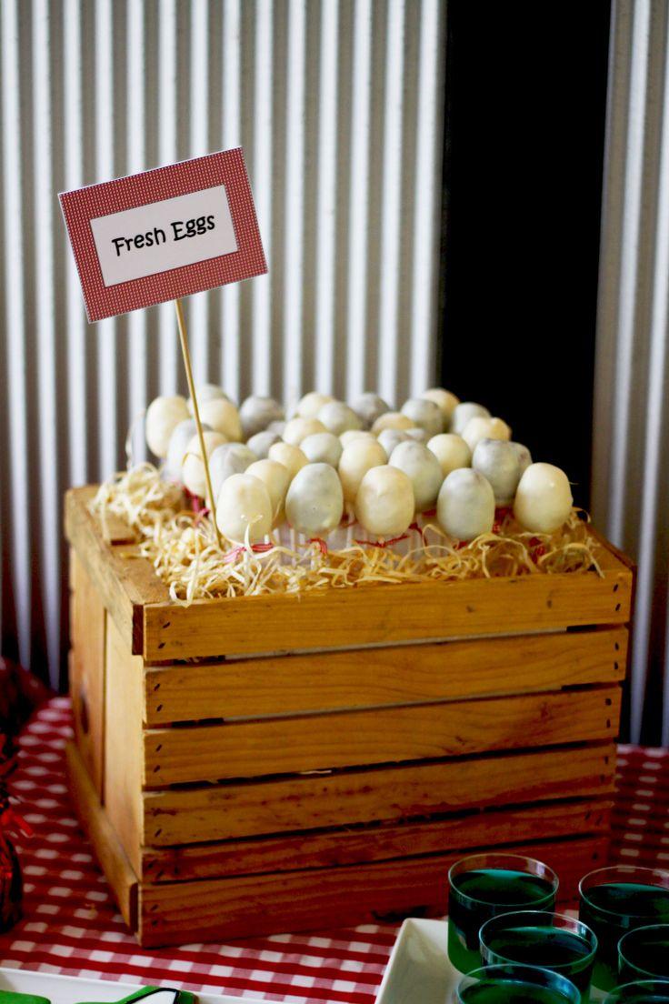 Sweetest Jubilee - Farm egg cake pops.
