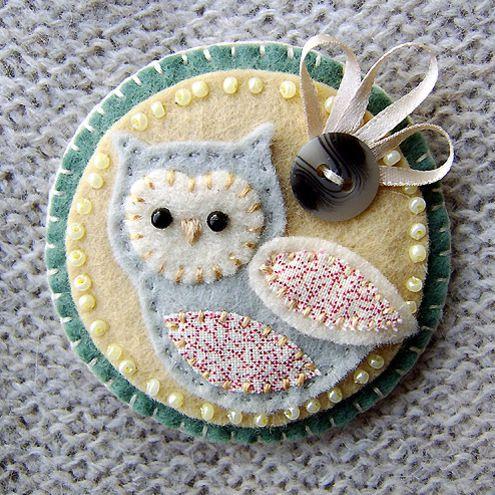 Sweet Felt Owl